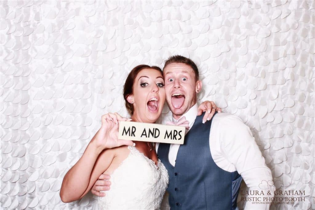 wedding couple from the photo booth