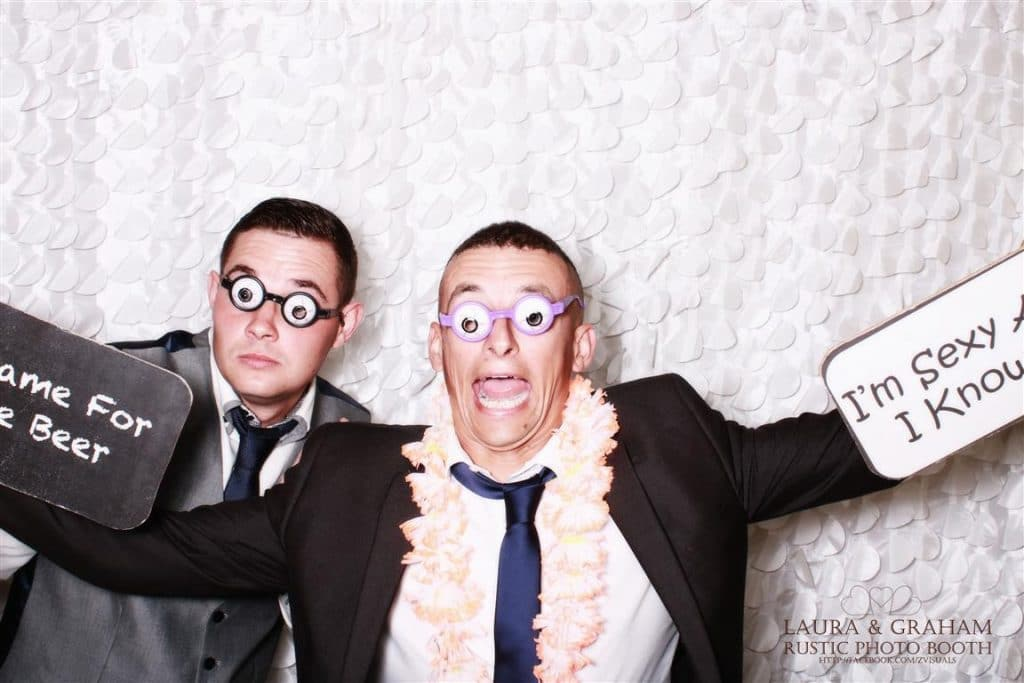Crazy guys in the photo booth