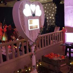 photo booth in wedding venue