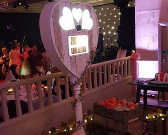 photo booth in wedding venue